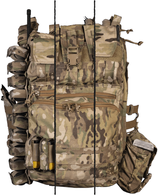Display the variations of the Tradesman Assault Pack