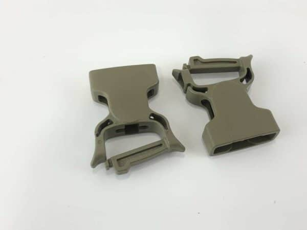 "FEMALE SIDE RELEASE BUCKLE SNAP-ON 1"" (2 PACK) 1"