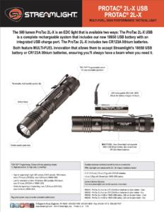 STREAMLIGHT PROTAC® 2L-X USB 5